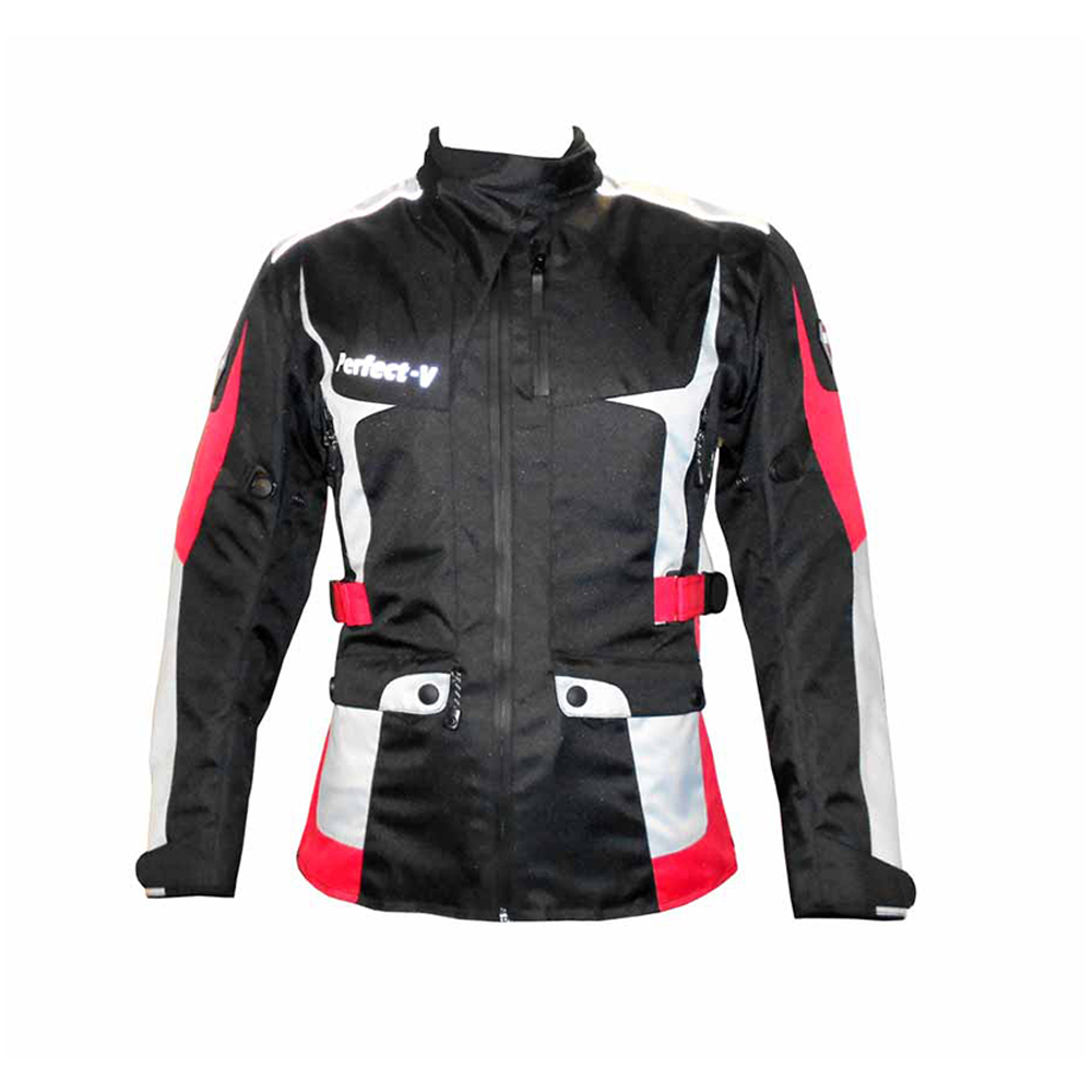 Textile Jacket Black, Blue And Red (V Lady)